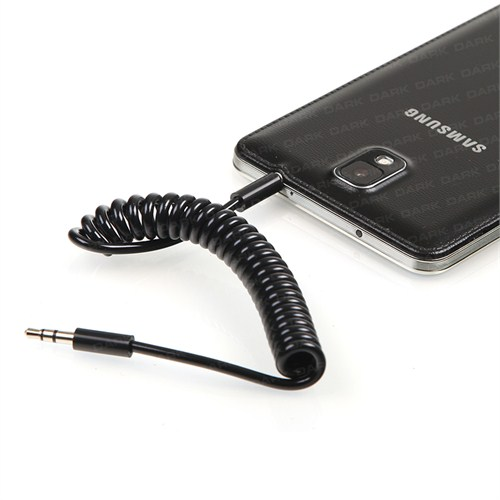 Dark 1Metre Spiralli 3.5mm Stereo iPhone Tipi Ses Bağlantı Kablosu (DK-CB-AUL100CP)