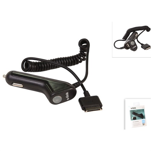 S-Link Ip-830 1500Ma 12V iPhone/iPad/iPod + 1.2M 5Pin Kablo Araç Şarjı