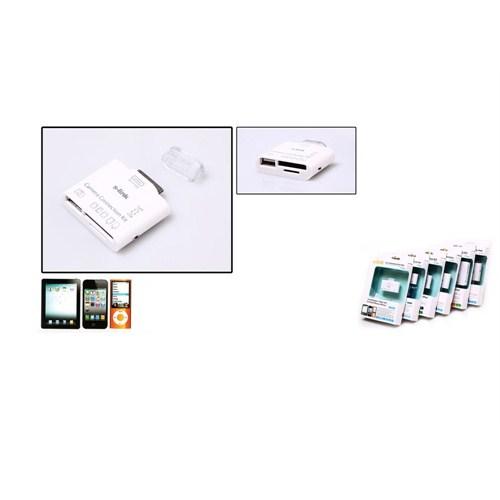 S-Link Apple iPhone / iPad 4/ Mini Usb + 3in1 Harici Kart Okuyucu Ip-534