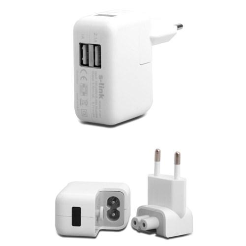 S-Link Ip-801 2 * Usb 2100Ma Ev Şarj Adaptör