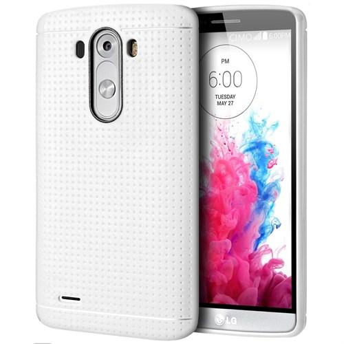 Microsonic LG G3 Dot Style Silikon Kılıf Beyaz-CS120-DOT-LG-G3-BYZ