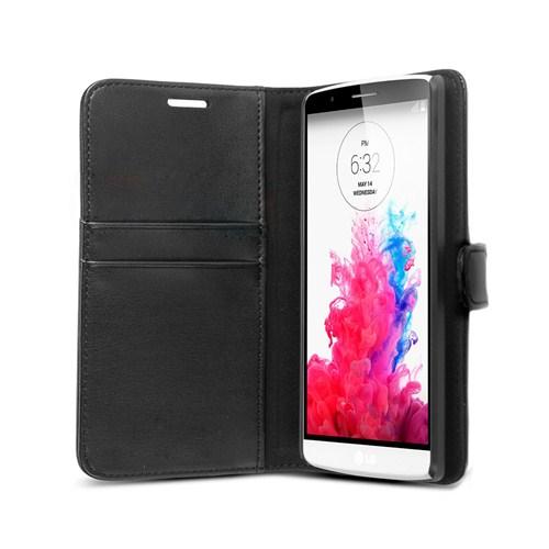 Microsonic LG G3 Kılıf Cüzdanlı Suni Deri Siyah-CS150-WLT-LG-G3-SYH
