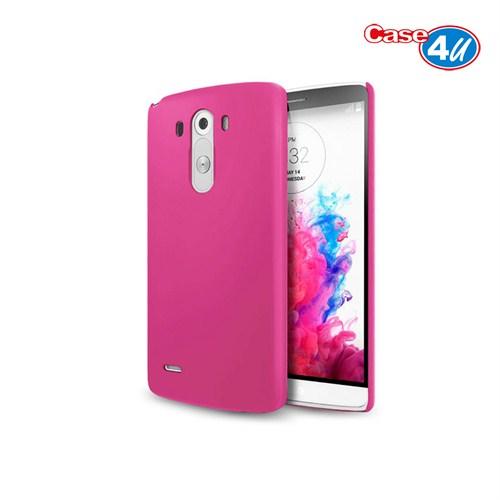 Case 4U LG G3 Pembe Rubber Arka Kapak