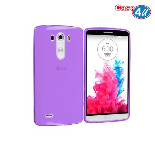 Case 4U LG G3 Soft Silikon Kılıf Mor