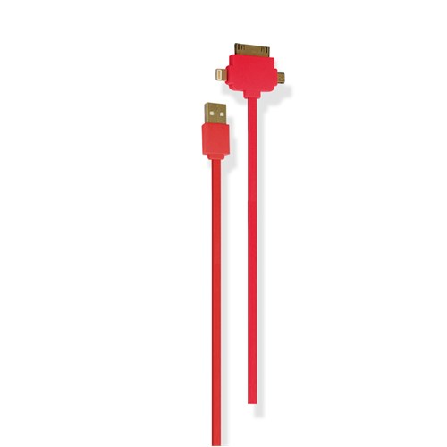 Petrix PFK700F iPhone 4/4s5/5s Micro USB Şarj ve Data Kablosu - Pembe