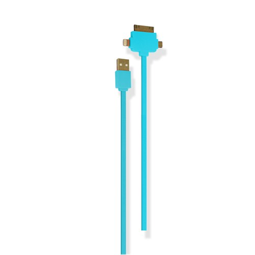 Petrix PFK700F iPhone 4/4s5/5s Micro USB Şarj ve Data Kablosu - Mavi