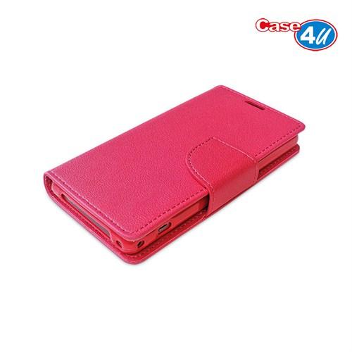 Case 4U Sony Xperia Z3 Compact Pembe Cüzdan Kılıf