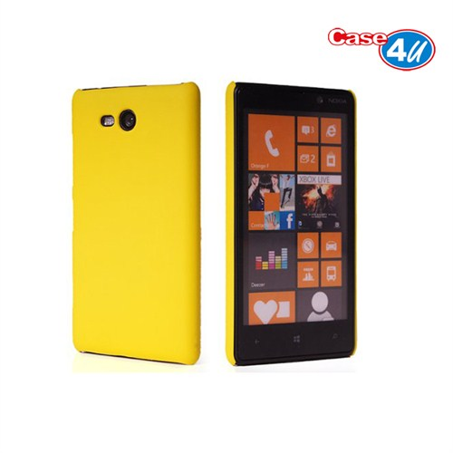 Case 4U Nokia Lumia 820 Sarı Rubber Arka Kapak*