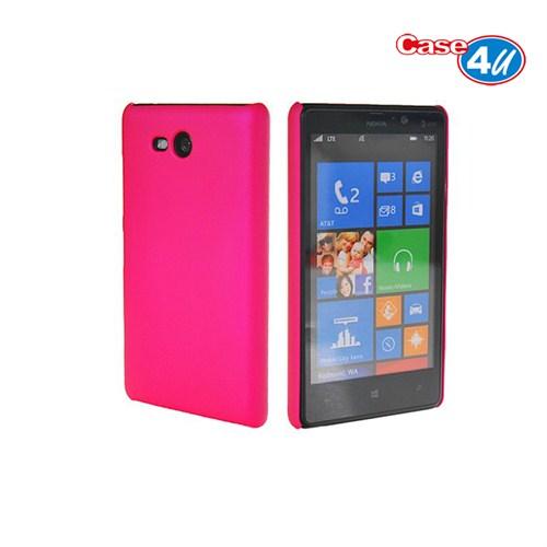 Case 4U Nokia Lumia 820 Pembe Rubber Arka Kapak