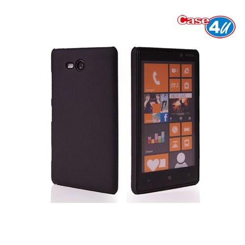 Case 4U Nokia Lumia 820 Siyah Rubber Arka Kapak*