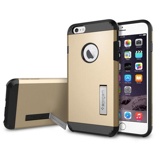"""Spigen iPhone 6 Plus Kılıf (5.5"""") Tough Armor Series Champagne Gold - SGP10916"""