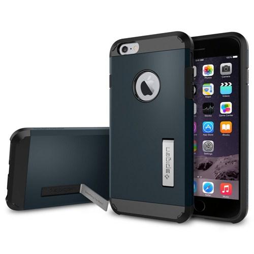 "Spigen iPhone 6 Plus Kılıf (5.5"") Tough Armor Series Metal Slate - SGP10915"