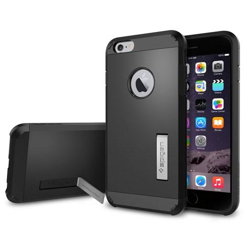 "Spigen iPhone 6 Plus Kılıf (5.5"") Tough Armor Series Smooth Black (SF coated) - SGP10914"