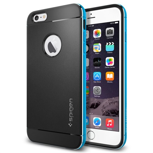 "Spigen Sgp iPhone 6 Plus Kılıf (5.5"") Case Neo Hybrid Metal Series Metal Blue - SGP11072"