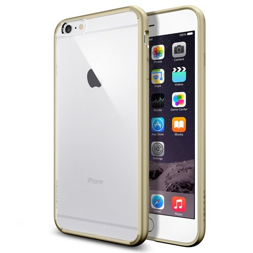 "Spigen Sgp iPhone 6 Plus Kılıf (5.5"") Ultra Hybrid Champagne Gold (PET) - SGP10895"