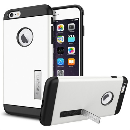 "Spigen Sgp iPhone 6 Plus Kılıf (5.5"") Slim Armor Series Shimmery White - SGP10903"