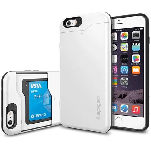 """Spigen Sgp iPhone 6 Plus Kılıf (5.5"""") Slim Armor CS Shimerry White - SGP10911"""