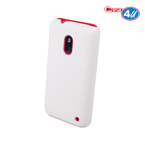 Case 4U Nokia Lumia 620 Rubber Beyaz Arka Kapak