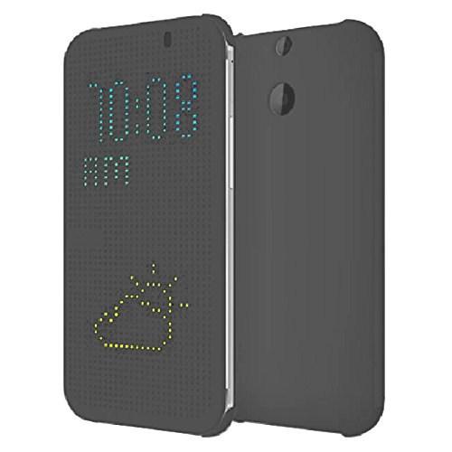 Microsonic HTC One E8 View Cover Dot Delux Kapaklı Kılıf Akıllı Modlu Gri-CS150-V-DLX-DOT-HTC-E8-GRI