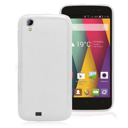Microsonic General Mobile Discovery 2 Mini Glossy Soft Kılıf Beyaz-CS130-GLSSY-GM-DISC2-M-BYZ