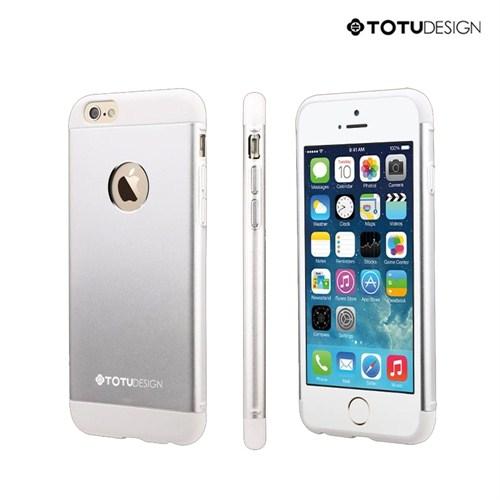 Totu Design Apple iPhone 6 Knight Series Metal Arka Kapak Gümüş