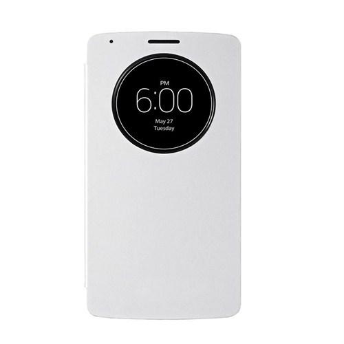 Case 4U LG G3 Flip Cover Beyaz ( Uyku Modlu)