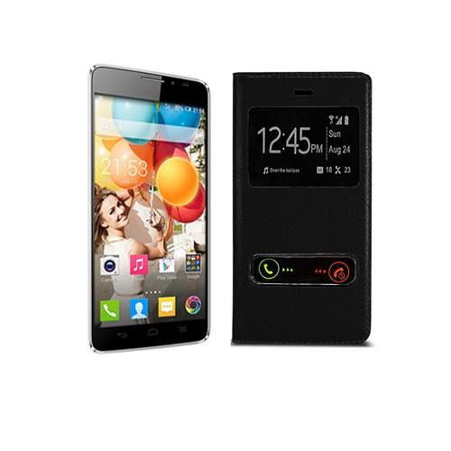 Case 4U General Mobile Discovery 2 Siyah Kapaklı Kılıf
