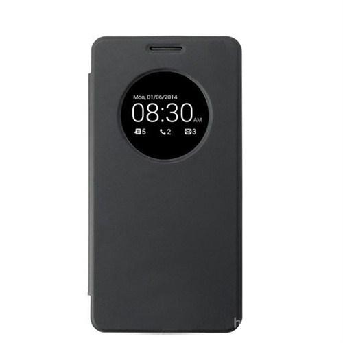 Case 4U Asus Zenfone 6 Flip Cover Siyah (Uyku Modlu) - Kapaklı Kılıf