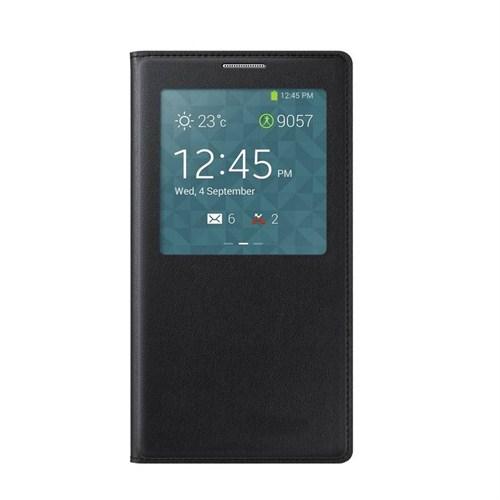 Case 4U Samsung Galaxy Note 3 Neo N7500 Siyah Kapaklı Kılıf (Uyku Modlu)