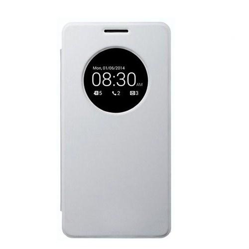 Case 4U Asus Zenfone 5 Flip Cover Beyaz (Uyku Modlu) - Kapaklı Kılıf
