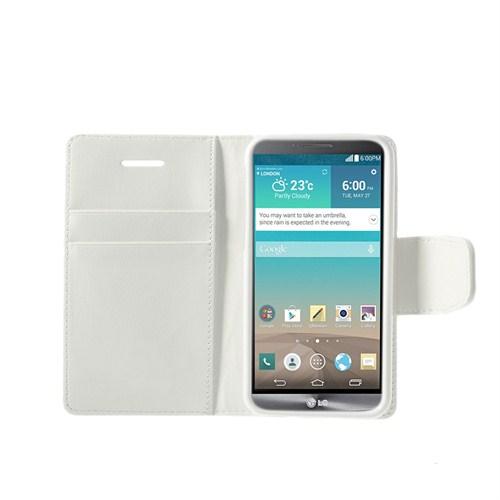 Case 4U LG G3 Beyaz Cüzdan Kılıf