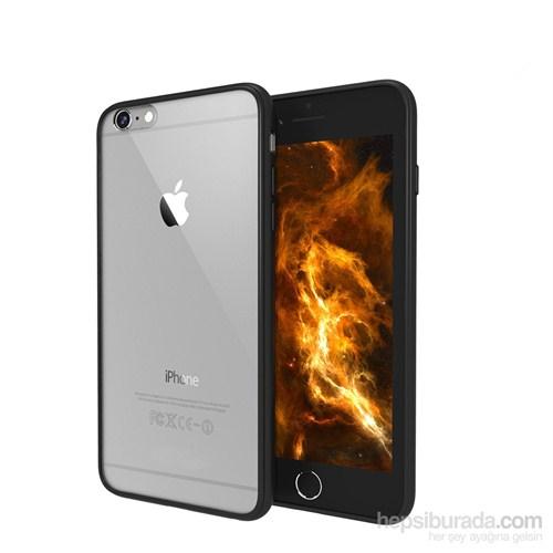 Case 4U Apple iPhone 6 Silikon Kenarlı Siyah Arka Kapak