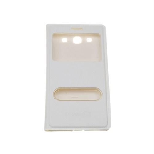 Case 4U Samsung S3 i9300 Pencereli Flip Cover Beyaz