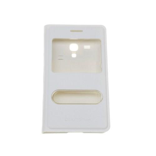 Case 4U Samsung S3 Mini i8190 Pencereli Flip Cover Beyaz