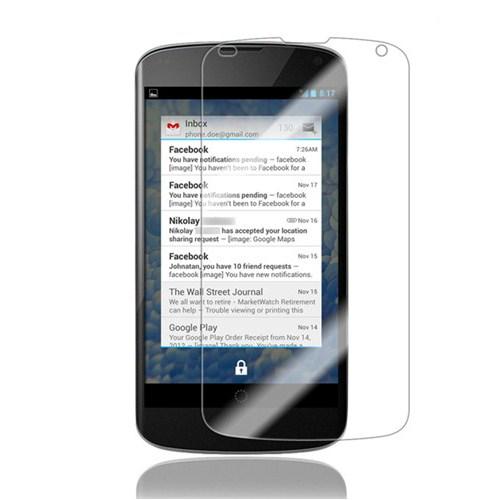 Case 4U Lg Nexus 4 Ekran Koruyucu* ( Parmak izi bırakmaz )