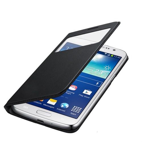 Case 4U Samsung Glaxy Grand 2 NG7100 Siyah Kılıf ( Uyku Modlu)