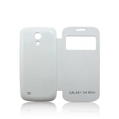 Case 4U Samsung i9190 Galaxy S4 Mini Akıllı Kılıf Beyaz