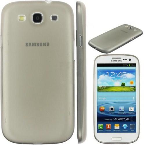 Case 4U Samsung i8190 Galaxy S III Mini 0,3 mm Ultra İnce Kılıf -Füme