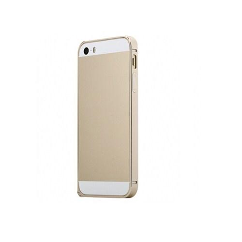 Case 4U Apple iPhone 5/5s Ultra Thin Metal Çerçeve Gold