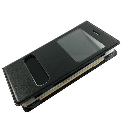 Case 4U Apple iPhone 6 Pencereli Kılıf Siyah