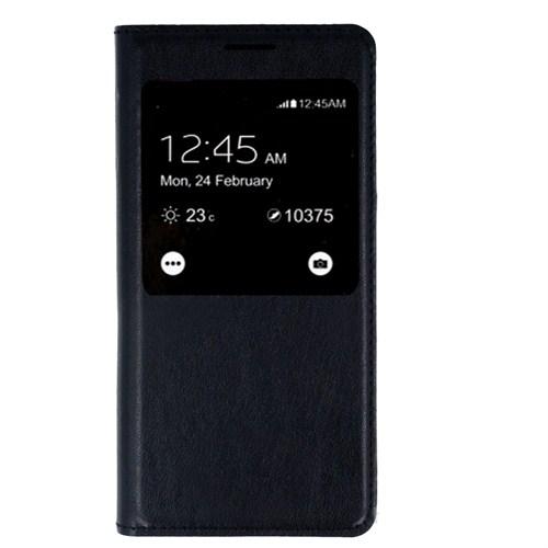 Case 4U Samsung Galaxy Alpha Kapaklı Kılıf Siyah*