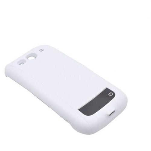 Case 4U Samsung Galaxy S3 i9300 Şarjlı Kılıf Beyaz