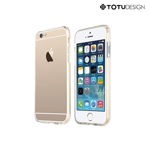 Totu Design Apple iPhone 6 Evouqe Series Geek Bumper Çerveve Gümüş