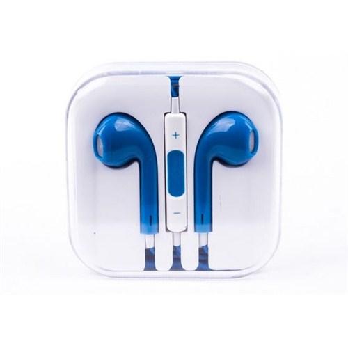 Cepium Apple iPhone 6 Plus/6/5/5s/5c/4/4s/3gs/3g Kulak İçi Kulaklık Mavi - TR- 48160