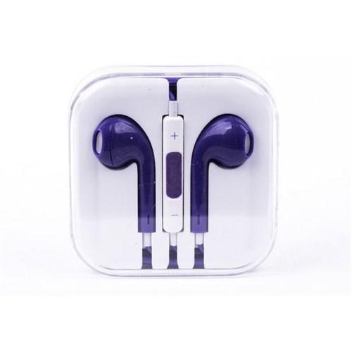 Cepium Apple iPhone 6 Plus/6/5/5s/5c/4/4s/3gs/3g Kulak İçi Kulaklık Mor - TR- 48146