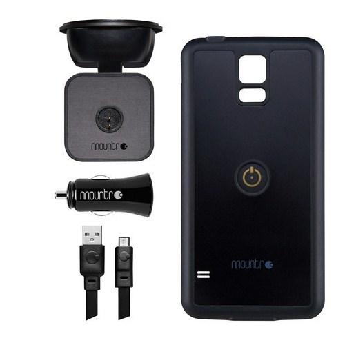 Mountr Samsung Galaxy S5 Uyumlu Akıllı Araç Tutacağı ( Siyah Kapak ) - SK-SCM-S5B