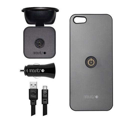 Mountr iPhone 5/5S Uyumlu Akıllı Araç Tutacağı ( Gri Kapak ) - SK-SCM-i5G