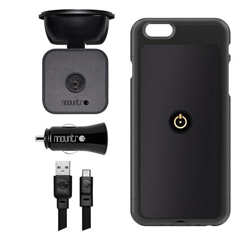 Mountr iPhone 6 Uyumlu Akıllı Araç Tutacağı ( Siyah Kapak ) - SK-SCM-i6B