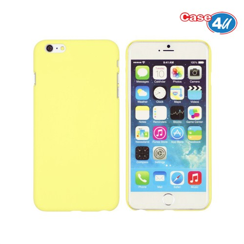 Case 4U Apple iPhone 6 Plus İnce Arka Kapak Bej - Sarı