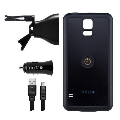 Mountr Samsung S5 Uyumlu Akıllı Araç Tutacağı ( Siyah Kapak ) - SK-AVM-S5B